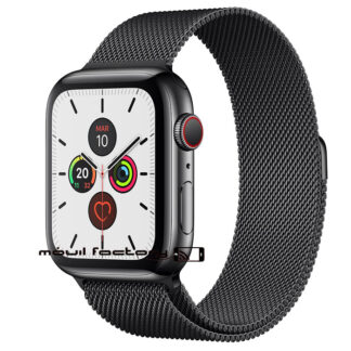 Correa metálica apple watch negra